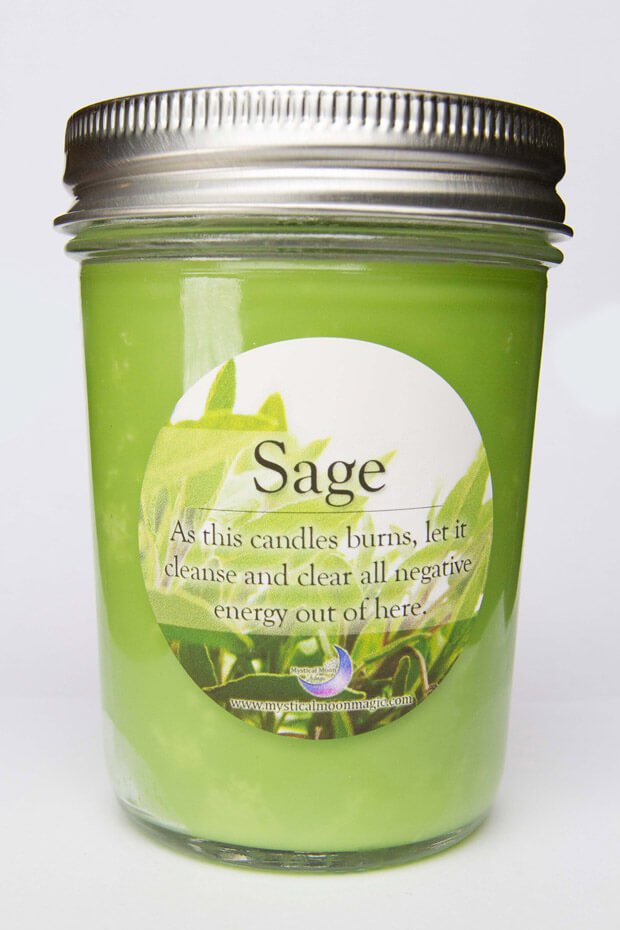 Sage Magical Candle 8oz The Mystical Moon Online Store