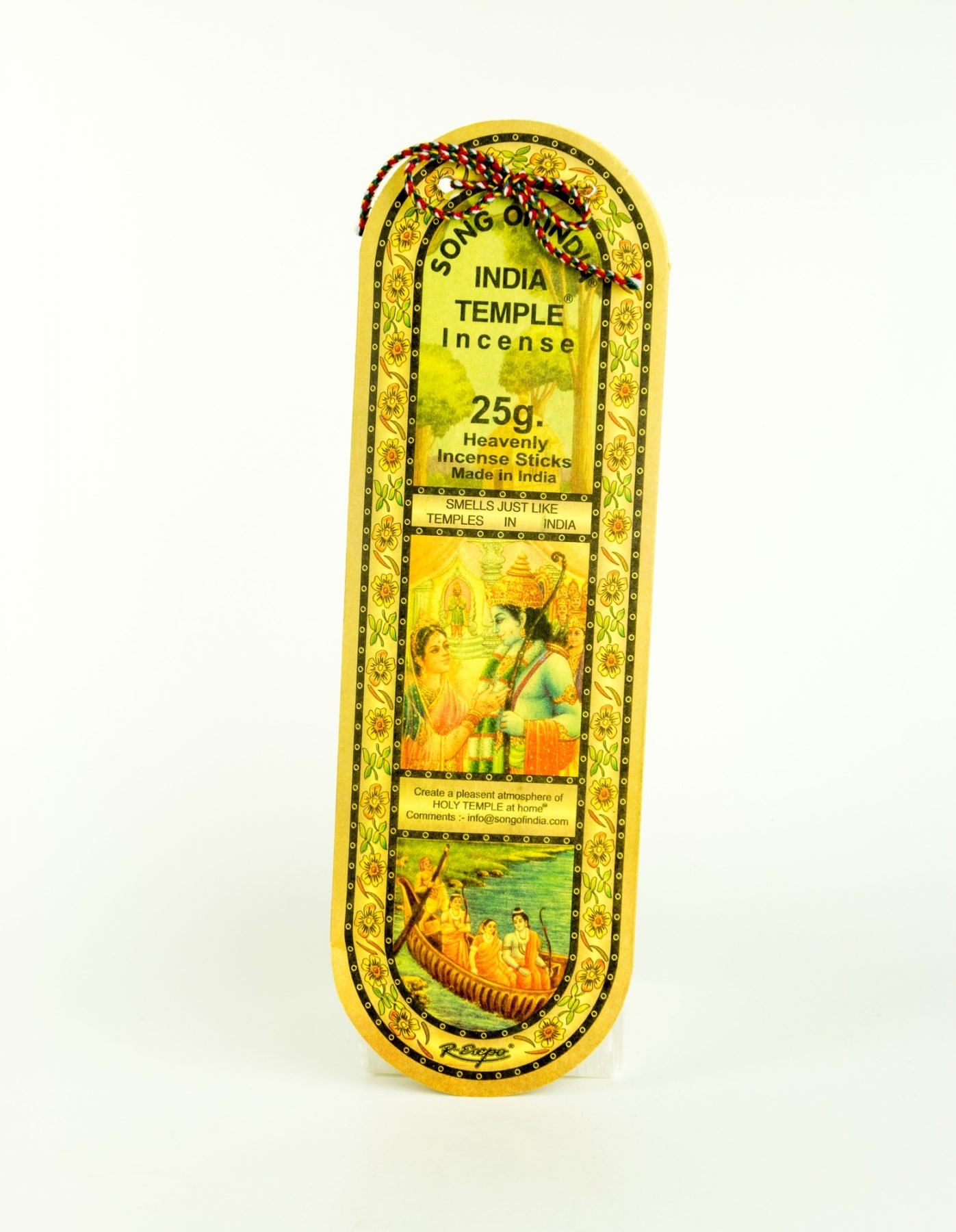 Song of India Temple Stick Incense 25g