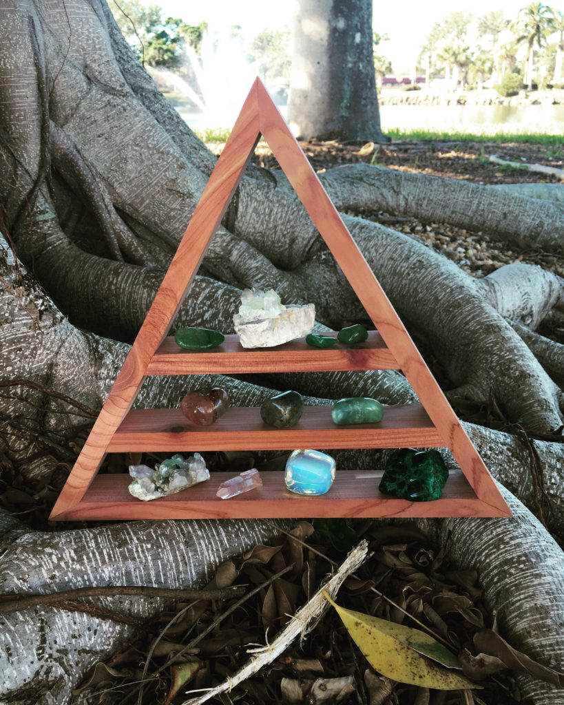 Cedar Pyramid Display Shelf