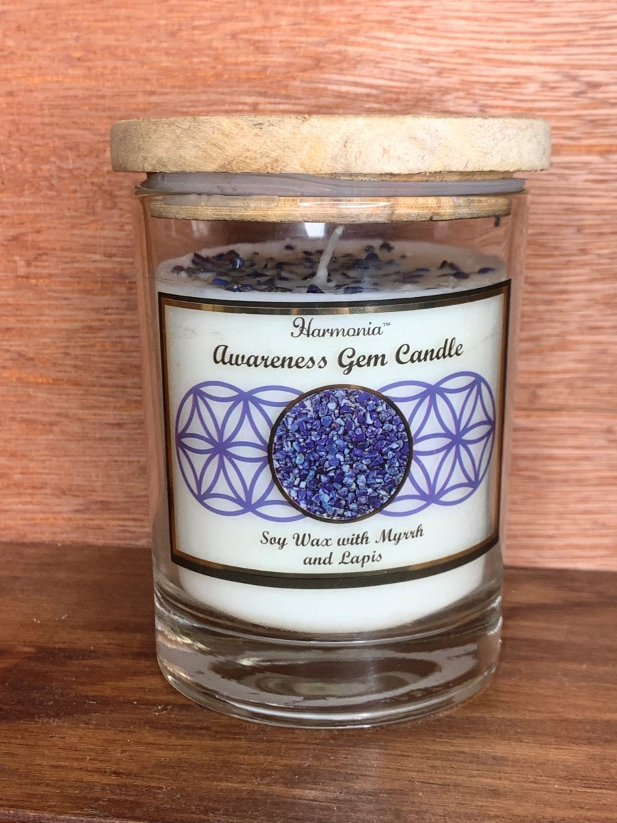 lapis lazuli awareness candle