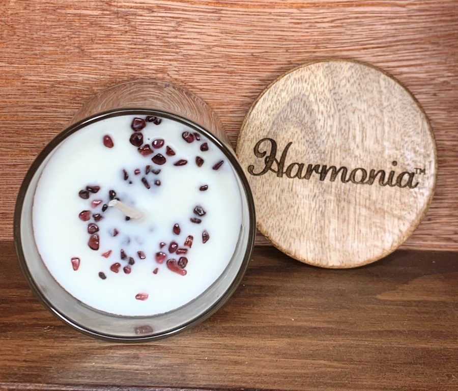 garnet passion soy candle