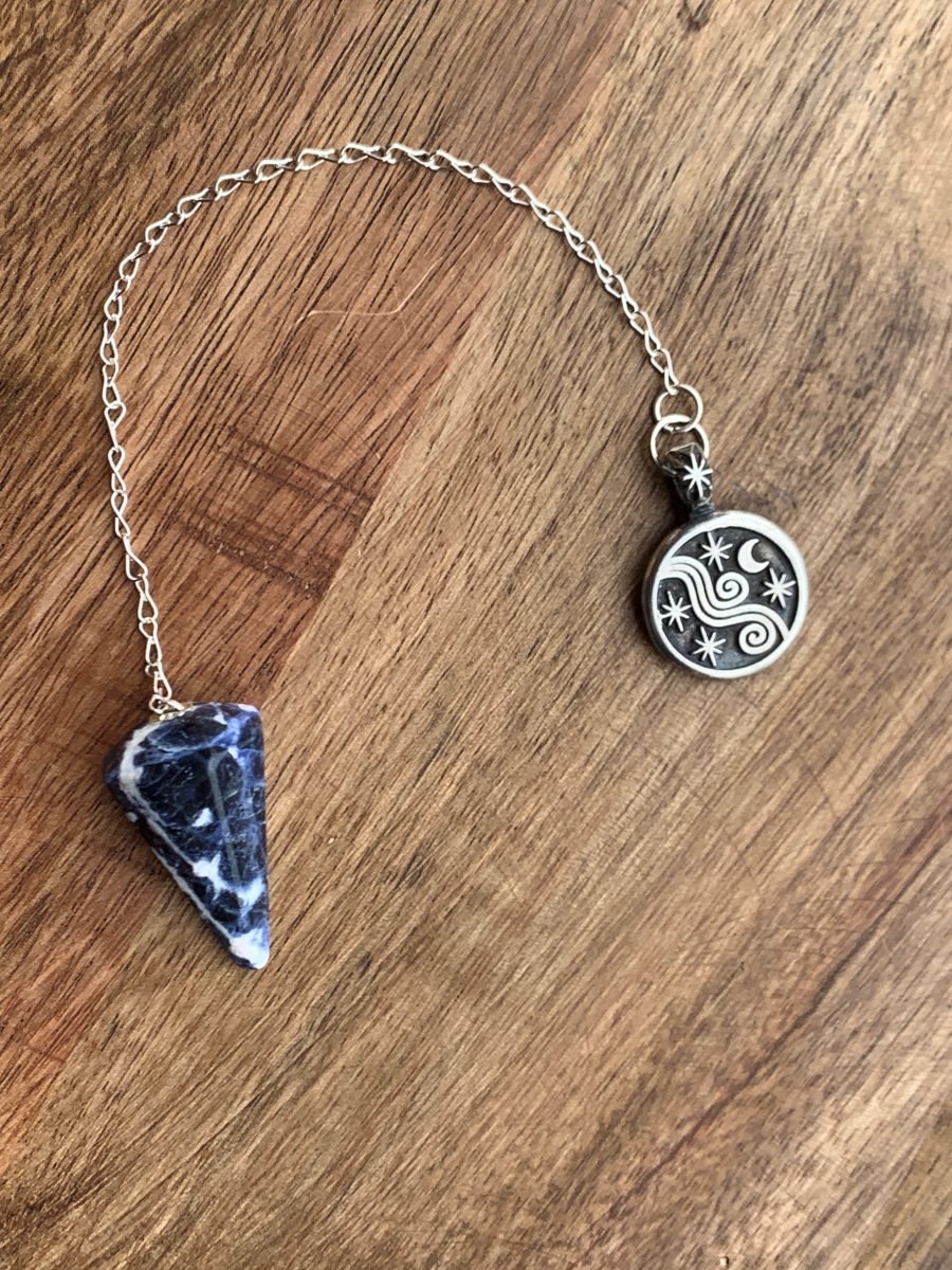 sodalite pendulum moon and stars